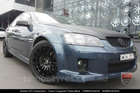 18x8.0 18x9.0 Lenso Conquista 5 SB CQ5 on HOLDEN COMMODORE VE