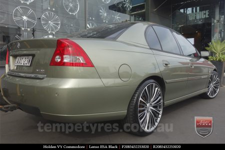 20X8.5 Lenso ESA Black on HOLDEN VY COMMODORE