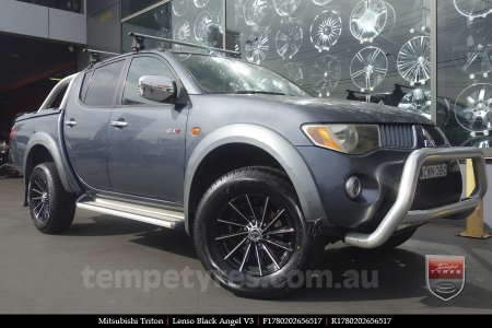 17x8.0 Lenso Black Angel V3 on MITSUBISHI TRITON