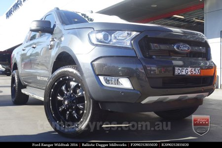 20x9.0 Ballistic Dagger BFM on FORD RANGER WILDTRAK