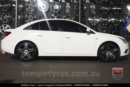 18x8.0 18x9.0 Lenso Conquista 4 CQ4 on HOLDEN CRUZE