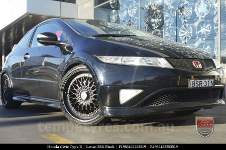 19x8.5 Lenso BSX Black on HONDA CIVIC