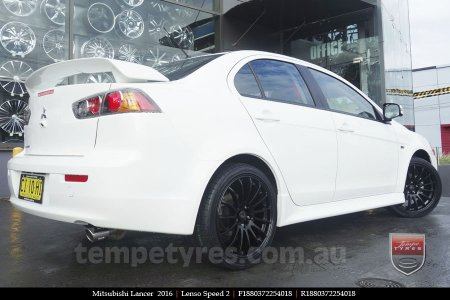 18x8.0 Lenso Speed 2 SP2 on MITSUBISHI LANCER