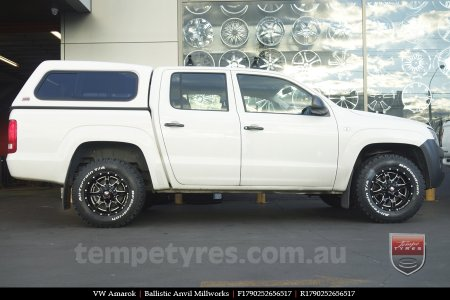 17x9.0 Ballistic Anvil Millworks on VW AMAROK