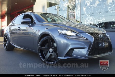 20x9.0 20x10.5 Lenso Conquista 7 MKS CQ7 on LEXUS IS350