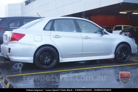 18x8.0 Lenso Speed 3 SP3 on SUBARU IMPREZA