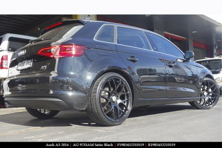 19x8.5 AG-01 Satin Black on AUDI A3
