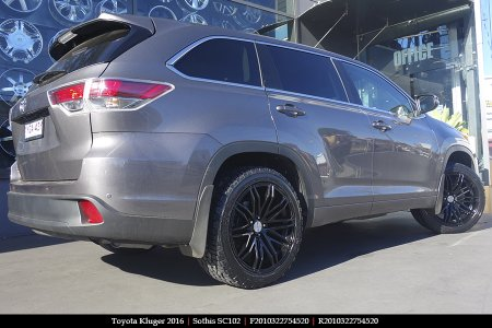 20x8.5 20x10 Sothis SC102 GB on TOYOTA KLUGER