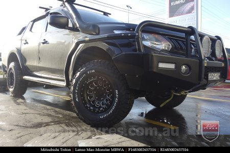 16x8.5 Lenso Max-Monster MBWA on MITSUBISHI TRITON