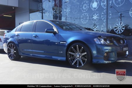 20x8.5 20x9.5 Lenso Conquista 8 CQ8 on HOLDEN COMMODORE VE