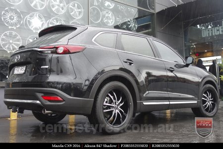 20x8.5 Akuza 847 Shadow on MAZDA CX9