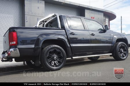 20x9.0 Ballistic Ravage Flat Black on VW AMAROK