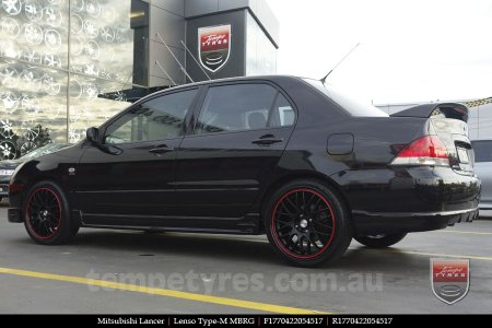 17x7.0 Lenso Type-M - MBRG on MITSUBISHI LANCER
