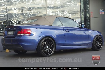 19x8.0 19x9.0 M3CSL Black on BMW 135i