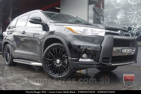20x8.5 Lenso Como Black on TOYOTA KLUGER