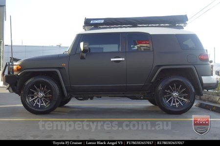 17x8.0 Lenso Black Angel V3 on TOYOTA FJ CRUISER