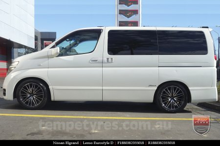 18x8.0 Lenso Eurostyle D ESD on NISSAN ELGRAND