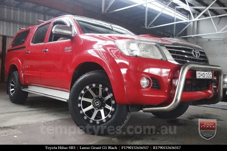 17x9.0 Lenso Grunt G1 Black on TOYOTA HILUX SR5