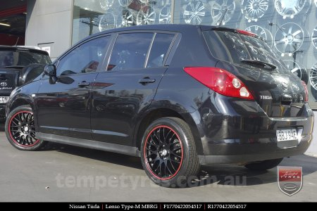 17x7.0 Lenso Type-M - MBRG on NISSAN TIIDA
