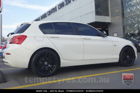 19x8.0 19x9.0 M3CSL Black on BMW 118i