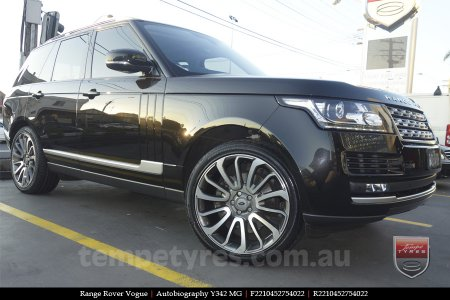 22x10 Autobiography Y342 MG on RANGE ROVER VOGUE