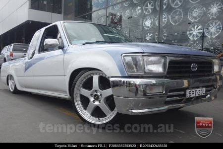 20x8.5 20x9.5 Simmons FR-1 Silver on TOYOTA HILUX