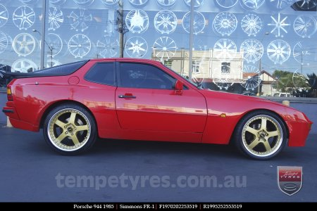 19x7.0 19x8.5 Simmons FR-1 Gold on PORSCHE 944