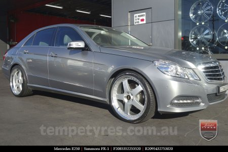 20x8.5 20x9.5 Simmons FR-1 Silver on MERCEDES E250