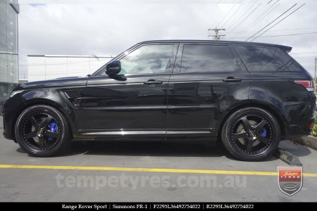 22x8.5 22x9.5 Simmons FR-1 Full Satin Black on RANGE ROVER SPORT