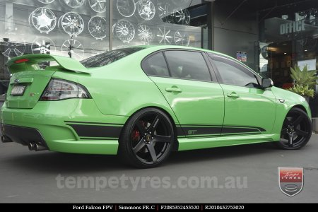 20x8.5 20x10 Simmons FR-C Full Satin Black on FORD FALCON FPV