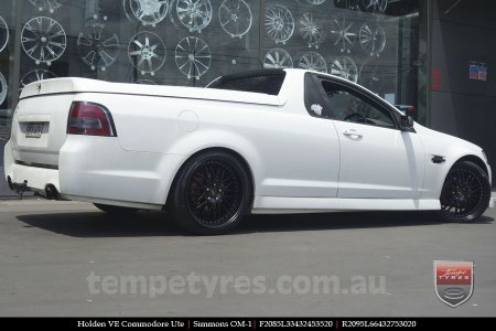 20x8.5 20x9.5 Simmons OM-1 Satin Black on HOLDEN COMMODORE VE