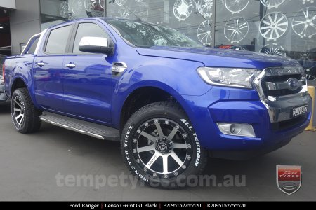 20x9.5 Lenso Grunt G1 Black on FORD RANGER