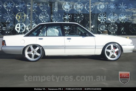 20x8.5 20x9.5 Simmons FR-1 Silver on HOLDEN VL