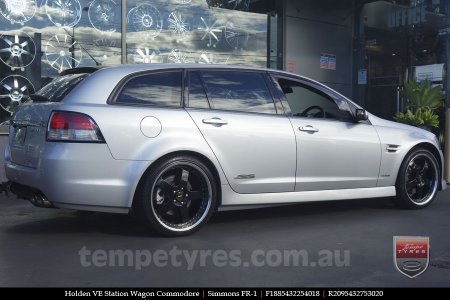 18x8.5 18x9.5 Simmons FR-1 Gloss Black on HOLDEN VE STATION WAGON COMMODORE