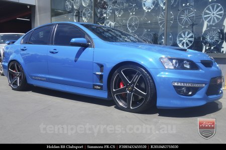 20x8.5 20x10 Simmons FR-CS Satin Black on HOLDEN R8 CLUBSPORT