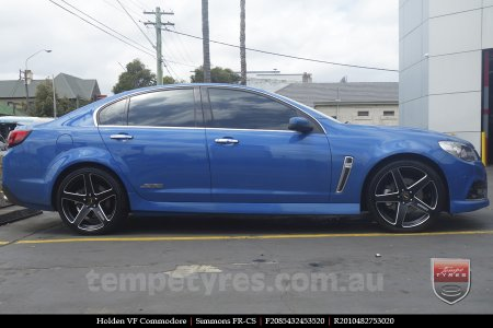 20x8.5 20x10 Simmons FR-CS Satin Black on HOLDEN VF COMMODORE