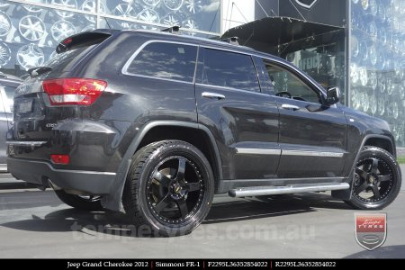 22x8.5 22x9.5 Simmons FR-1 Full Gloss Black on JEEP GRAND CHEROKEE