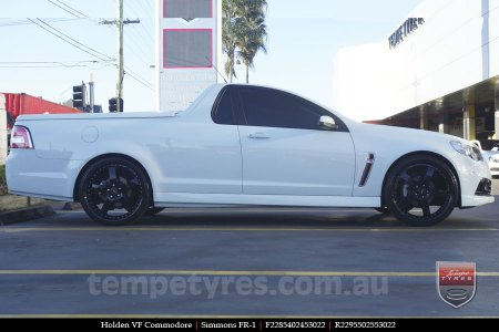 22x8.5 22x9.5 Simmons FR-1 Full Gloss Black on HOLDEN COMMODORE VF