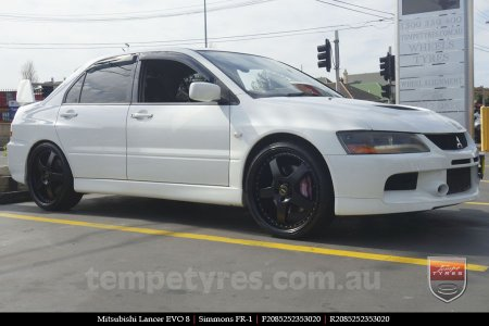 20x8.5 20x9.5 Simmons FR-1 Satin Black on MITSUBISHI LANCER