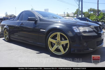 20x8.5 20x10 Simmons FR-CS Gold on HOLDEN COMMODORE VE
