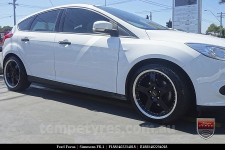 18x8.5 18x9.5 Simmons FR-1 Gloss Black on FORD FOCUS
