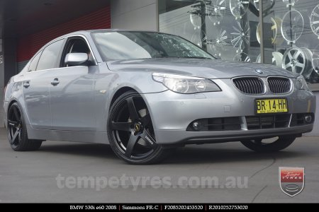 20x8.5 20x10 Simmons FR-C Full Satin Black on BMW 530i