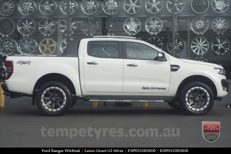20x9.5 Lenso Grunt G1 Silver on FORD RANGER WILDTRAK