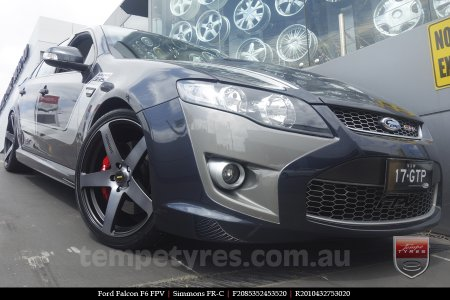 20x8.5 20x10 Simmons FR-C Black Tinted on FORD FALCON F6 FPV
