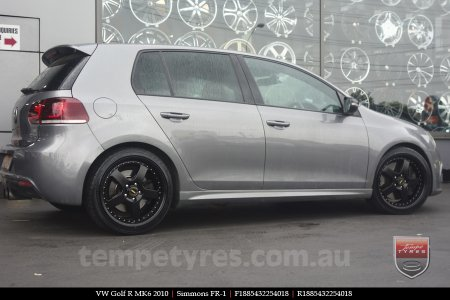 19x8.5 19x9.5 FR19-1 Satin on VW GOLF