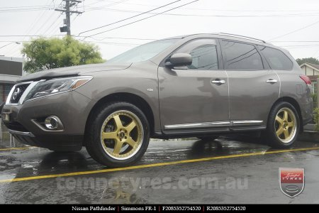 20x8.5 20x9.5 Simmons FR-1 Gold on NISSAN PATHFINDER