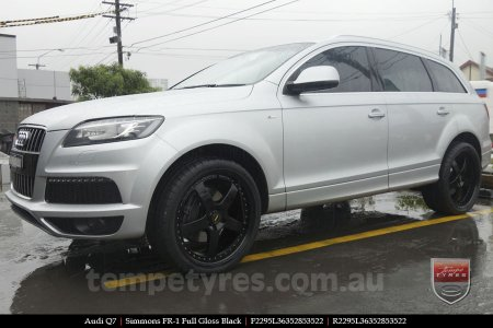 22x8.5 22x9.5 Simmons FR-1 Full Gloss Black on AUDI Q7