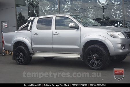20x9.0 Ballistic Ravage Flat Black on TOYOTA HILUX SR5