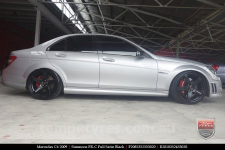 20x8.5 20x10 Simmons FR-C Full Satin Black on MERCEDES C CLASS