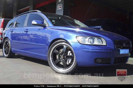 19x7.0 19x8.5 Simmons FR-1 Gloss Black on VOLVO V50